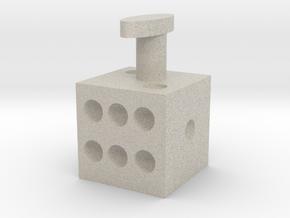 Cuff links dice cufflinks in Natural Sandstone