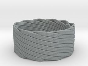 Single Stranded Matthew Walker Knot Napkin Ring in Polished Metallic Plastic