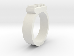 Nerd Ring Size 11 in White Natural Versatile Plastic