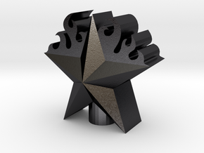 3D Flame Staruntitled in Polished and Bronzed Black Steel