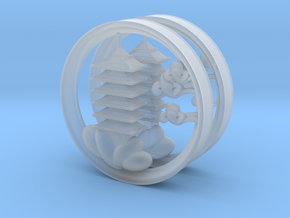 3 Inch Pagoda plugs/tunnels in Smooth Fine Detail Plastic