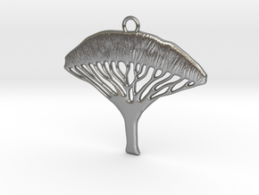 Dragon Blood Tree Pendant in Natural Silver
