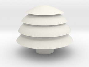 Tree container in White Natural Versatile Plastic