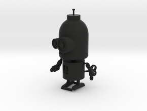 Little Wind-Up Copperbot Printing Model in Black Strong & Flexible