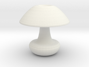 Mushroom Vase in White Natural Versatile Plastic