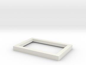Light Diffuser for Visor Mirror in White Natural Versatile Plastic