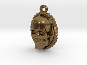 Skull Earring in Natural Bronze