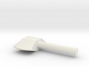 Axe 02 in White Natural Versatile Plastic