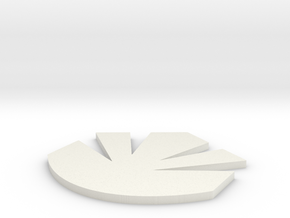 Maquis Logo One Inch in White Natural Versatile Plastic