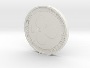 Poker chip in White Strong & Flexible