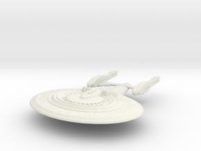 Columbus Class Battleship in White Natural Versatile Plastic