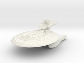 Roundrock Class Destroyer in White Natural Versatile Plastic