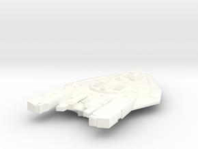 USS Big Horn in White Processed Versatile Plastic