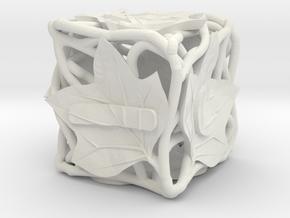 Fudge Botanical d6 (Tulip Tree) in White Natural Versatile Plastic