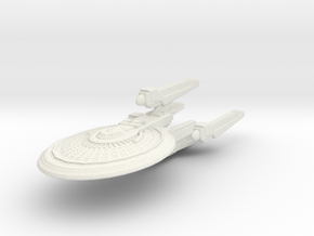 Kittyhawk Class Battleship in White Natural Versatile Plastic