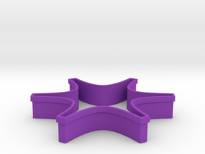 Shapeways Spark in Purple Strong & Flexible Polished