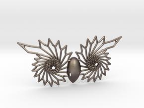 Owl Eyes - 7cm in Polished Bronzed Silver Steel