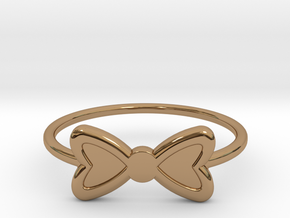 Knuckle Bow Ring, 15mm diameter by CURIO in Polished Brass