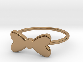 Midi Bow Ring the second by titbit in Polished Brass