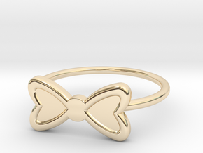 Midi Bow Ring, subtle and chic by titbit in 14K Yellow Gold