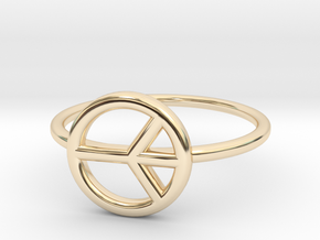 Peace Midi Ring, knuckle ring, by titbit in 14K Yellow Gold