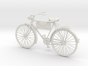 1:16 German Infantry Scout Bicycle in White Strong & Flexible