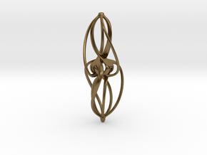 Libella Earrings  - 20mm in Natural Bronze