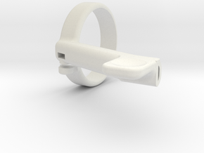 eBike Throttle Lever in White Natural Versatile Plastic
