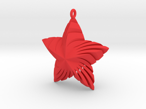 Tortuous Star Pendant in Red Processed Versatile Plastic