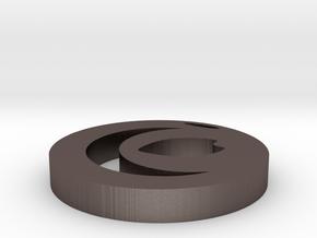 Hideto's Pendant in Polished Bronzed Silver Steel