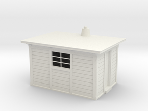 LNER Type D Platelayers Hut 4mm in White Natural Versatile Plastic