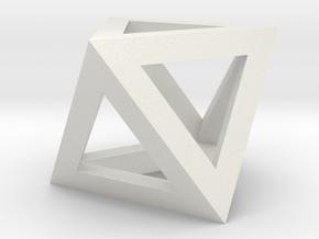 oktaeder kante in White Natural Versatile Plastic