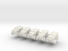 1/300 SdKfz.254 x5 in White Natural Versatile Plastic
