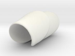 SaddleGrip 23mm in White Natural Versatile Plastic