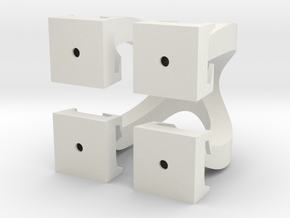 Omega Cubed in White Natural Versatile Plastic