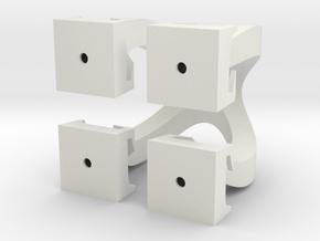 Omega Cubed in White Natural Versatile Plastic