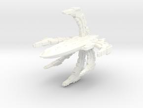 ComTross Class Battleship in White Strong & Flexible Polished