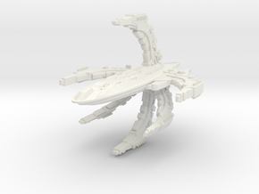 ComTross Class Battleship in White Strong & Flexible