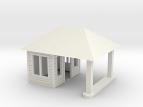Quig's Esso Main Building HO Scale in White Natural Versatile Plastic