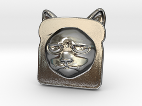 Bread Cat!  AKA Toaster Kitty in Polished Silver