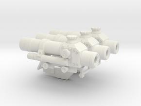 1:6 scale russian PKS-07 asst. 1 in White Natural Versatile Plastic