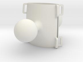 Atom RAM mounts solid (2) in White Natural Versatile Plastic