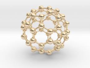 Buckyball C60 in 14K Yellow Gold