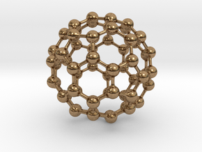 Buckyball C60 in Natural Brass