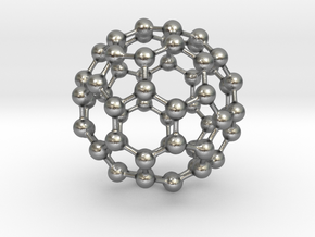 Buckyball C60 in Natural Silver