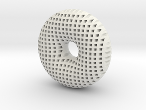 Torus 50mm in White Natural Versatile Plastic