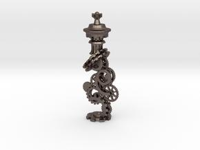 Clockwork King in Polished Bronzed Silver Steel