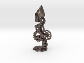 Clockwork Bishop in Polished Bronzed Silver Steel