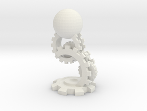Clockwork Pawn in White Natural Versatile Plastic