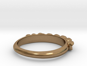 Molar Teeth Ring Size 6 in Natural Brass
